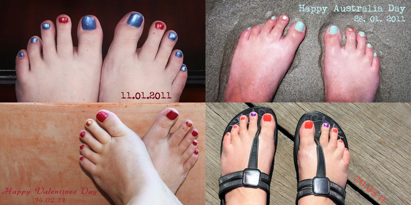 Feet Collage