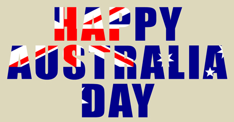 Australia Day word art