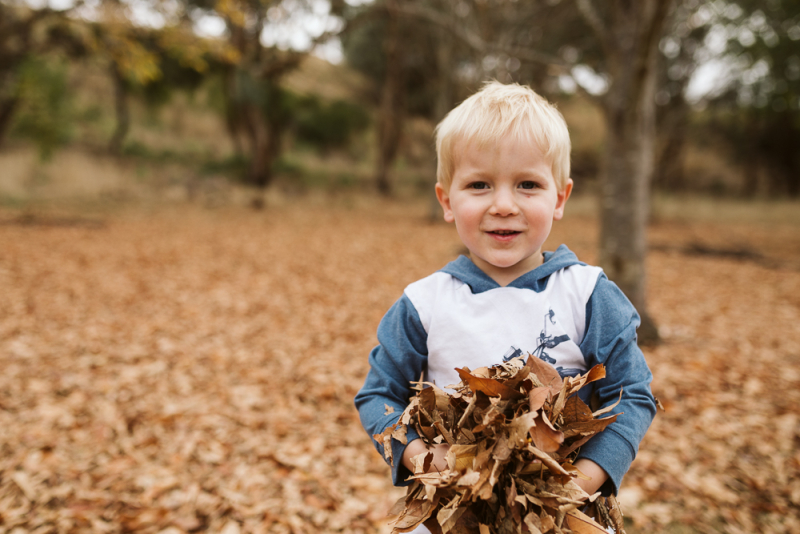 Melbourne family photographer outdoor with autumn leaves-9