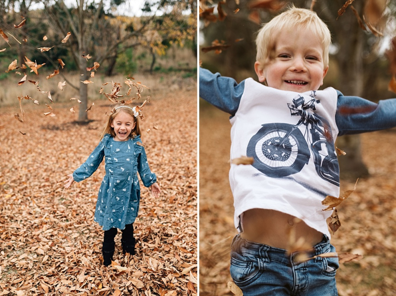 Melbourne family photographer outdoor with autumn leaves-1