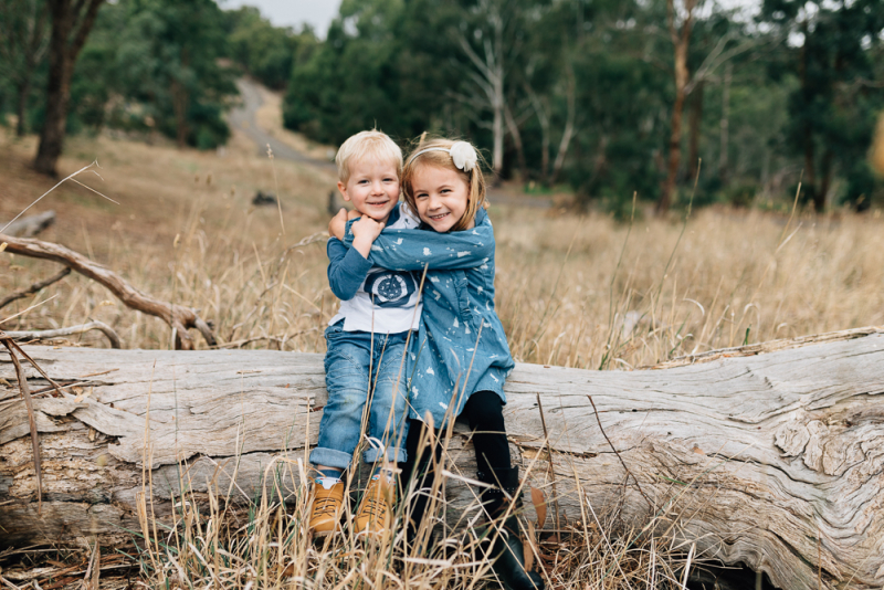 Melbourne family photographer outdoor with autumn leaves-5