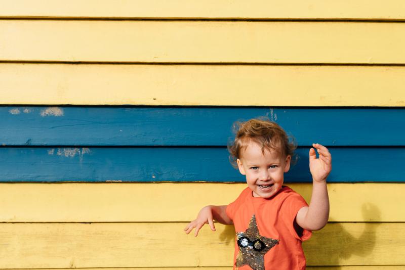 Bathing Boxes Brighton Beach Family Photo Session