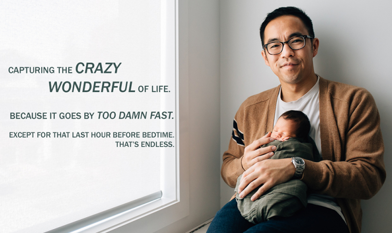 Father holding newborn baby // Melbourne newborn photographer